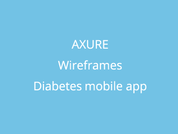 Axure Mobile Wireframes for Diabetes App